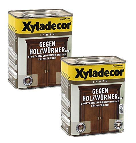 Xyladecor gegen Holzwürmer Holzwurmtod anti Holzwurm Holzwurm-Ex 2 x 0,75L