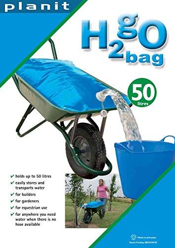 H2GO Wasserbeutel, patentierter Wasserbehälter für die Schubkarre, 50 Liter