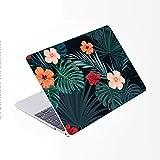 SDH Funda para MacBook Pro de 15 pulgadas con CD-ROM 2010 – 2012 lanzado, funda de plástico protectora rígida y cubierta de teclado solo compatible con Mac Pro 15 pulgadas A1286, hojas de plantas 7
