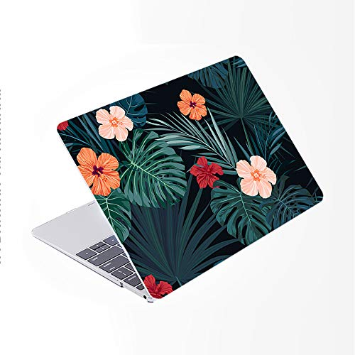 SDH for MacBook Pro 15 inch Case 2019 2018 2017 2016 Release A1990 A1707, Plastic Pattern Hard Shell Cover & Gradient Keyboard Skin Compatible with for Mac bookPro 15 Touch Bar & ID, Plant Leaves 5