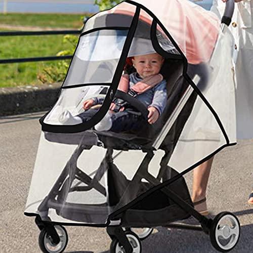 Protector de lluvia universal para cochecitos y capazos de bebé, ventilación, resistente al viento, impermeable, protección contra el polvo y la nieve
