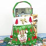 巨大な休日ラッピングエクストラジャンボ用リボン、贈り物、タグ付きクリニーククリスマスギフトバッグ丈夫な生地の再利用可能なメイド,B