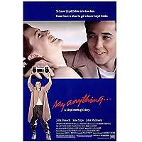 Weitaian何でも言う.(1989)感動的な愛の映画ポスターキャンバスプリント絵画リビングルームの寝室の装飾のための壁の芸術-50X75Cmフレームなし