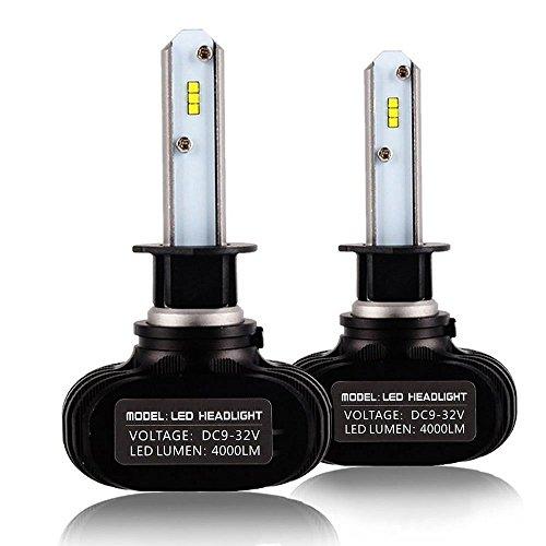zodoo LEDヘッドライト H1 車検対応 切替タイプ 50W 8000LM 6500k ホワイト 一体式 CSPソールチップ 保証1...