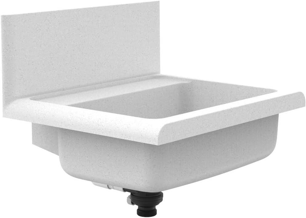 Sanit Lineo 60.012.B6.0099 - Lavabo (plástico resistente a los golpes, granito, capacidad de 12 L, rebosadero, push-to-Open)