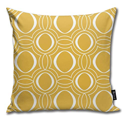 Rasyko - Funda de cojín para sombrilla con diseño geométrico, color amarillo dorado