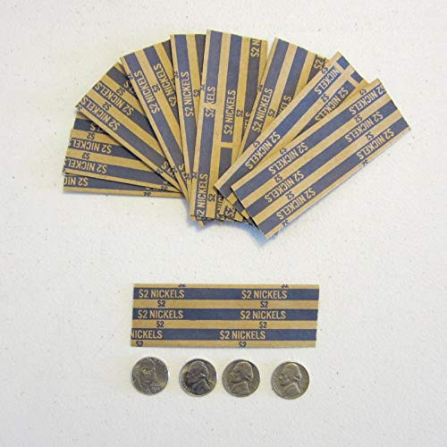 AirGarden – 125 Coin Wrappers for Nickels Nickel Coins Wrapper Five Cent Wrappers