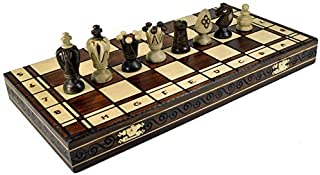 Wooden Chess set Royal 48 Handcrafted and wood Burning Made in Poland by Wegiel
