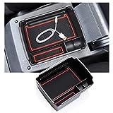 RUIYA para V W Golf 7 MK7 Facelift GTI/GTE/Golf R 2013-2018 Consola Central Caja de Almacenamiento Reposabrazos Organizador Bandeja Reposabrazos Central Accesorios para automóvil (Rojo)