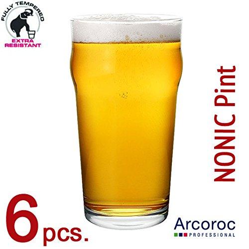 Nonic Bier- oder Cider-Gläser 1 Pint, 6er-Pack