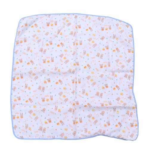 Supvox Baby Badetuch mit Hut Babydecke weiche Decken für Neugeborene Baby Weihnachten Geburtstag Foto Prop Jungen Mädchen (blau)