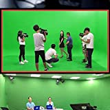 The green screen backdrop is foldable. Perfect studio Photography background for studio video and photo. Note: The Backdrop Stand is not included Can be used to set any professional background, studio photography, video broadcast screen, camera inter...