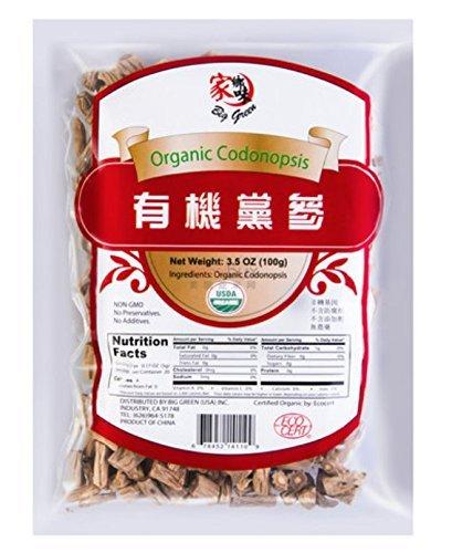 Big Green Organic Codonopsis Ginseng/Pilosulae Root Dried Bulk Herbs Dangshen Raw 3.5oz 有机党参