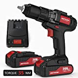 Drill Driver, Meterk 20V Cordless Electric Drill Driver with 2Pcs Li-Ion Batteries, 2 Speed Dri…