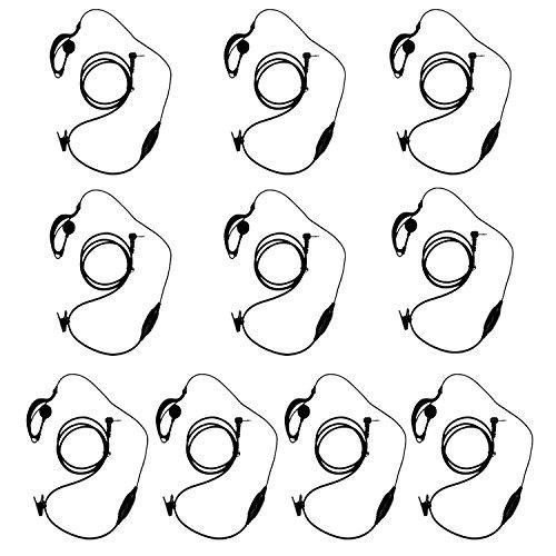 KEESIN G Forma de Clip Auriculares / Mic del auricular para Motorola Talkabout 2 radio de dos vías walkie talkie 1 pines 100-0 (10 piezas)