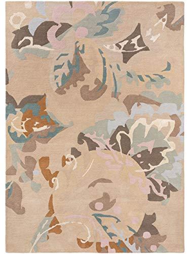 benuta PREMIUM Wollteppich Aurora Beige 140x200 cm - Naturfaserteppich aus Wolle