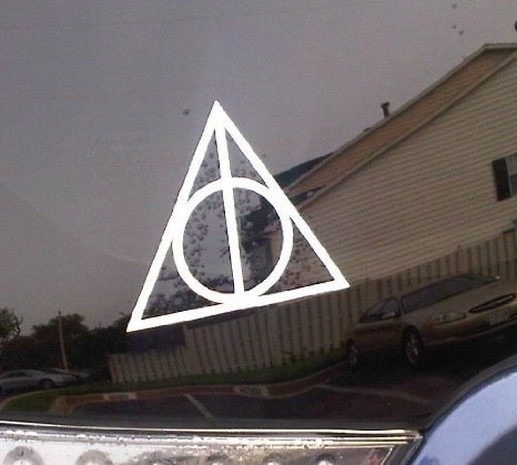 Aufkleber Deathly Hallows Harry Potter Car Window Decal Sticker White
