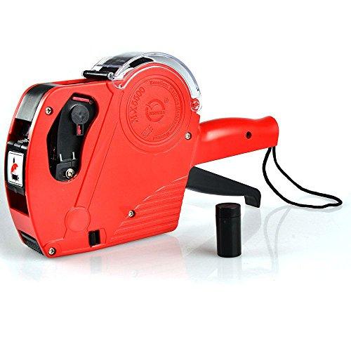 TKSTAR - Etiquetadora de precio - etiquetadora con 1 bobina de etiquetas y 1cartucho de tinta - JU5500EOS, color rojo one size
