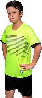 Premium Boys' Soccer Jerseys Sports Team Training Uniform | Age 4-12 |Sports Shirts and Short Set | Boys-Girls-Youth, Striped