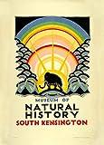 Vintage del Metro de Londres de Museo de Historia Natural c1923de Edward McKnight Kauffer 250gsm Art Tarjeta Brillante A3reproducción de póster