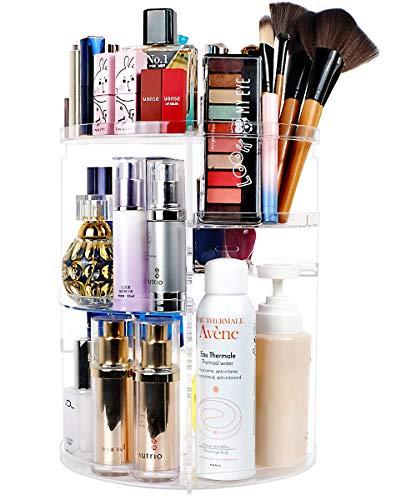 Organizador de Maquillaje, Vagalbox Organizador Giratorio de Tocador y Caja de Almacenamiento, Organizador Giratorio de 360 ° para...