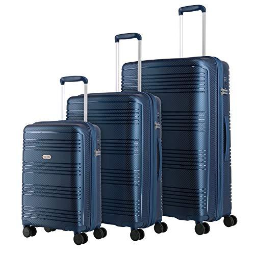 travelite 4-Rad Koffer Set L/M/S Hartschale mit TSA Schloss, Handgepäck erfüllt IATA-Bordgepäckmaß, Gepäck Serie ZENIT: Robuster Hartschalen Trolley in...