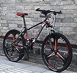 ZTYD 26' 24 Velocidad de Bicicletas de montaña de Edad, Estructura de suspensión de Aluminio Ligero Completo, Suspensión Tenedor, Freno de Disco,C2,24Speed