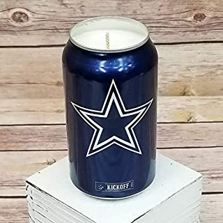2018 Bud Light NFL Dallas Cowboys Team Football Beer Can Soy Candle with Custom Scent (Can from Canada)