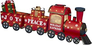 Home Collection Outdoor Christmas Decoration 60 Inch Red Metal Christmas Train Display Yard Lawn Garden Sculpture