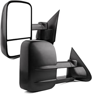 YITAMOTOR Towing Mirrors Compatible for 97-03 Ford F150 04 F150 Heritage 97-99 F250 Light Duty Manual Folding Towing Side Mirrors 1997 1998 1999 2000 2001 2002 2003