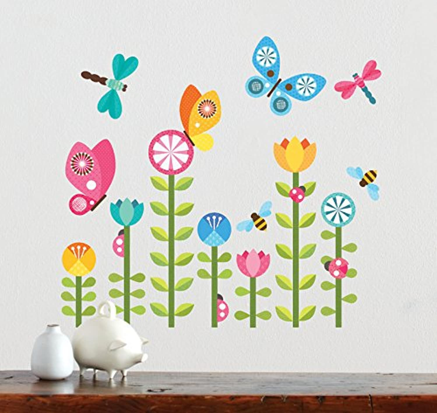 Petit Collage Fabric Wall Decal, Butterflies