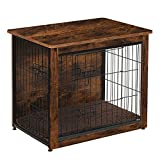 DWANTON Dog Crate Table , Wooden Crate End Table, Dog Furniture, Indoor Pet Crate Dog Kennel Side Table, Bed Nightstand, Small, 27.2' L x 20.1' W x 23.6' H