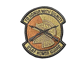 US Air Force Honor Guard OCP Spice Brown Patch with Hook Fastener