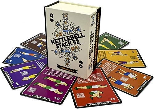 Stack 52 Kettlebell Exercise Cards Workout Playing Card Game Video Instructions Included Learn product image