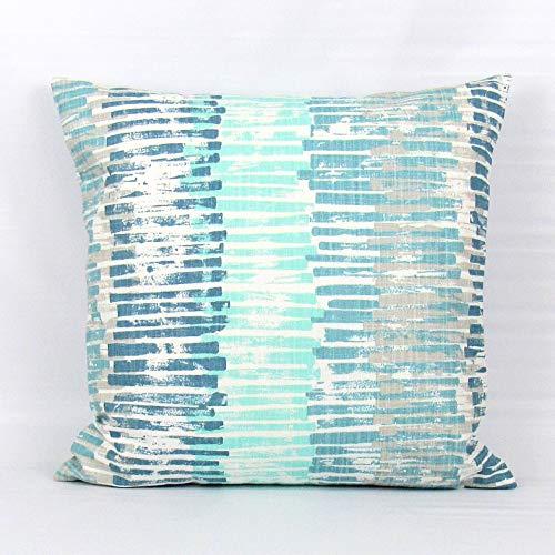 Funda de almohada Aqua Stripe Pillow Aqua Throw Pillow Aqua Funda de cojín de espuma de mar almohada almohada almohada almohada almohada almohada almohada almohada 18x18 pulgadas casa granja cáñamo clásico moderno simple elegante bloque de colores decoración de la ropa de cama sofá