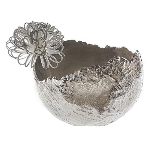 Casablanca - Schale/Vase Antiqua Aluminium vernickelt silberfarben Antikfinish