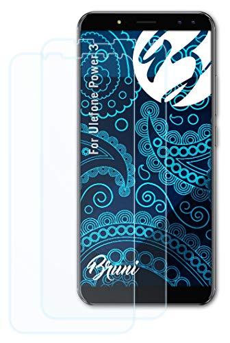 Bruni Schutzfolie kompatibel mit Ulefone Power 3 Folie, glasklare Bildschirmschutzfolie (2X)