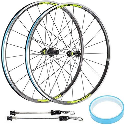 TYXTYX 700C Juego de Ruedas de Bicicleta de Carreras Juego de Ruedas de Bicicleta V Freno Aleación Aluminio MTB Cubos de Rueda de Doble Pared Compatible 7 8 9 10 11 Velocidad