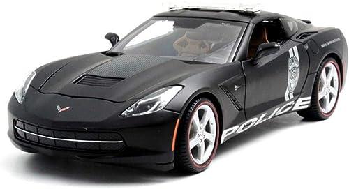 Maisto 1 18 skala Diecast Modell Auto Chevrolet Corvette Oldtimer Fahrzeug Spielen Modell Sport Auto Für Kinder Geschenk Spielzeug Simulation Miniaturmodelle Fahrzeuge (Farbe   Silber)