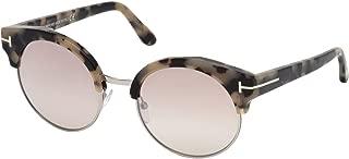 FT0608 Alissa-02 Sunglasses Havana w/Brown Mirror Lens 54mm 56G TF608 TF 608 FT608 FT 608