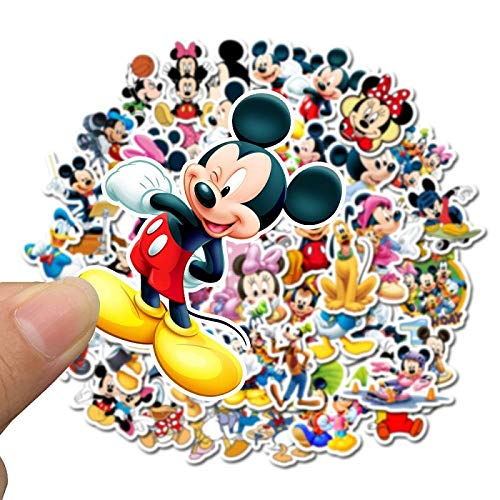50 Stück Mickey Mouse Disney Aufkleber Alben Graffiti Laptop Skateboard Gepäck Gitarre Fahrrad Kinder DIY Aufkleber