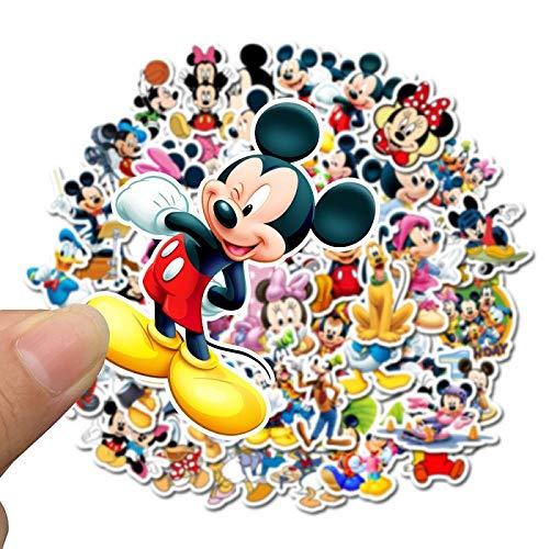 50 pegatinas de Mickey Mouse Disney Álbumes Graffiti Laptop Skateboard Equipaje Guitarra Bicicleta Niños DIY Calcomanía