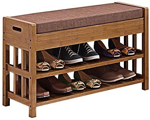 N/Z Home Equipment Schuhbank Bambus Schuhregal Holz Testschuhe Minimalistische Schuhe Hocker Lagerung Lagerung Hocker Sofa Hocker Schuhwechselhocker