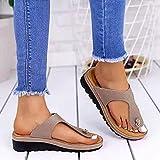 SXMY Sandalias Mujeres Sandalias Planas Sandalias Casuales Zapatos de Verano Mujeres Peep Toe Sandalias Planas Zapatillas de Playa,004,43EU