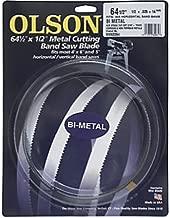 Olson Saw BM82264BL   BI-Metal Band Saw Blade, 1/2 by .025-Inch, 14/18 VARI 64-1/2-Inch