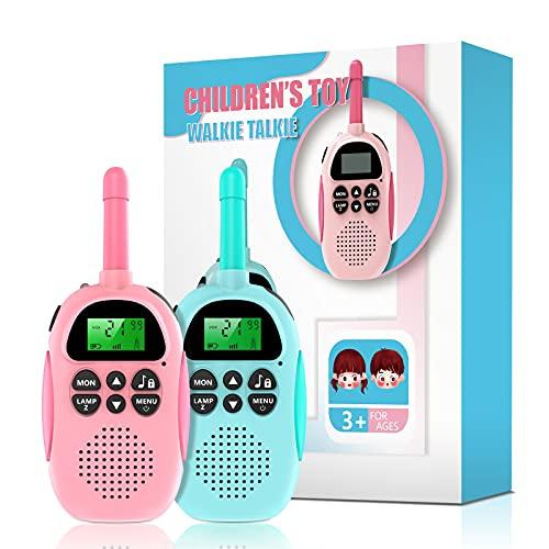 Ukuu Walkie Talkie para Niños Bateria USB Recargable 16 Canales Función VOX Rango de 3KM con Linterna, Navidad Regalos Cumpleaños Juguetes para Niños de 3-12 Años - Ideal para Acampar en el Parque