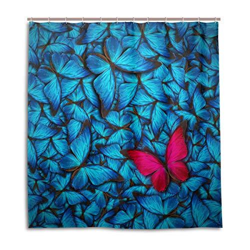 CPYang Duschvorhänge Fantasy Schmetterling Muster Wasserdicht Schimmelresistent Badevorhang Badezimmer Home Decor 168 x 182 cm mit 12 Haken