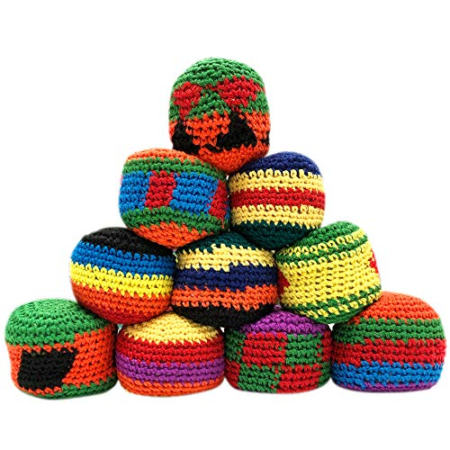 The System Sellers Assorted Crochet Hacky Sack Footbags, 24 Count