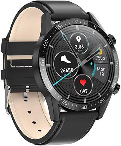 zfj Reloj inteligente Bluetooth deportivo pulsera en tiempo real monitoreo de temperatura corporal detección de salud IP68 impermeable negro