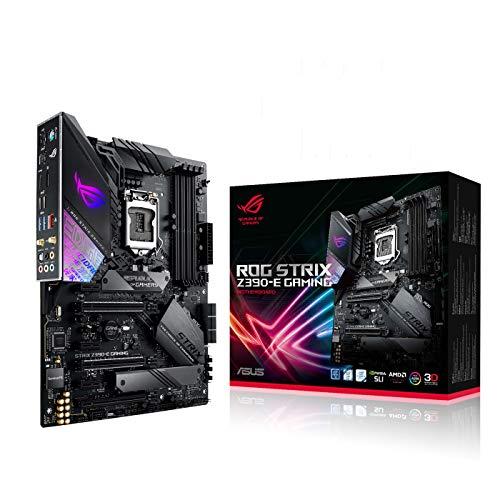 ASUS ROG STRIX Z390-E Gaming - Placa base Gaming ATX Intel de 8a y 9a gen, LGA 1151 con Aura Sync, Wi-Fi 802.11ac, soporte DDR4 4266 MHz+, 2 M.2 con disipador, SATA 6 Gbps, HDMI y USB 3.1 Gen. 2